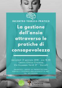 ansia mindfulness psicoterapia vercelli